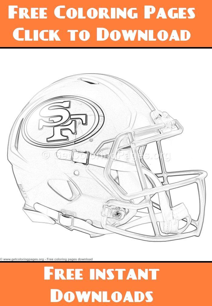 Grayscale San Francisco 49ers Football Helmet Coloring Pages San Francisco 49ers Football Coloring Pages Helmet Drawing