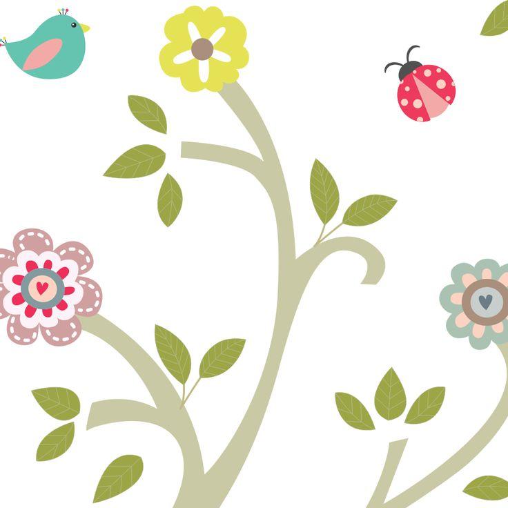http://www.mimoinfantil.com.br/quarto-de-bebe-decorado-adesivos-primaveras/ Quarto de bebê decorado   Adesivos Árvore Primavera - MimoInfantil