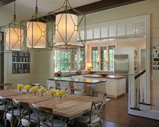 Traditional Dining Room Design: Dining Rooms, Kitchens, Ideas, Window, Kitchen Dining, Kitchen Design, Room Design, Light Fixture