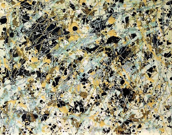 Original Abstract Art Painting, Homage to Pollock
