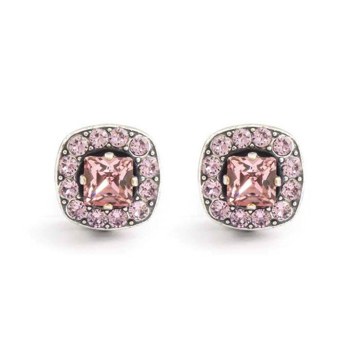 Stijlvolle roze oorclips met Swarovski Elements kristallen van Krikor. Bekijk onze online collectie klassieke sieraden.