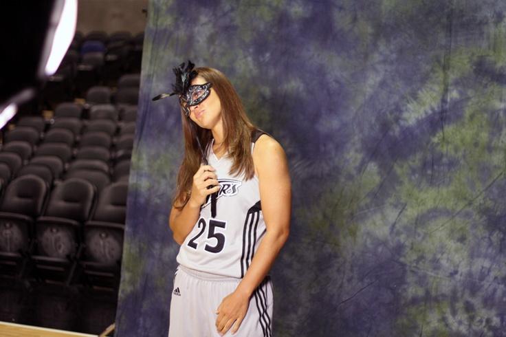 Becky Hammon masquerades on Media Day