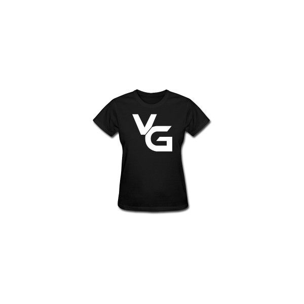 VanossGaming Logo Women's T-shirt ❤ liked on Polyvore featuring tops, t-shirts, youtube, logo top, logo tees and logo t shirts