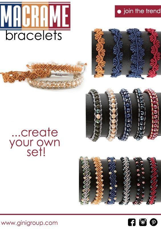 Your go-to accessory set! Δημιουργήστε το δικό σας σετ από βραχιόλια μακραμέ και συνδυάστε το με κάθε σας εμφάνιση! #jointhetrend