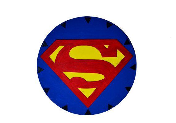 Decoracion de pared del logo de Superman. Super por PepitosAtelier