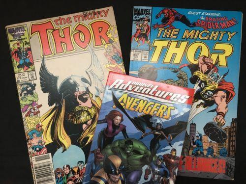 Thor-Marvel-Adventures-Avengers-2-Comic-Books-1-Graphic-Novel-Set