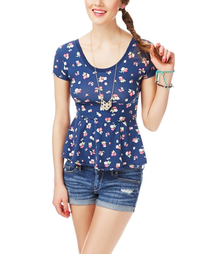 Floral Peplum Top from Aeropostale