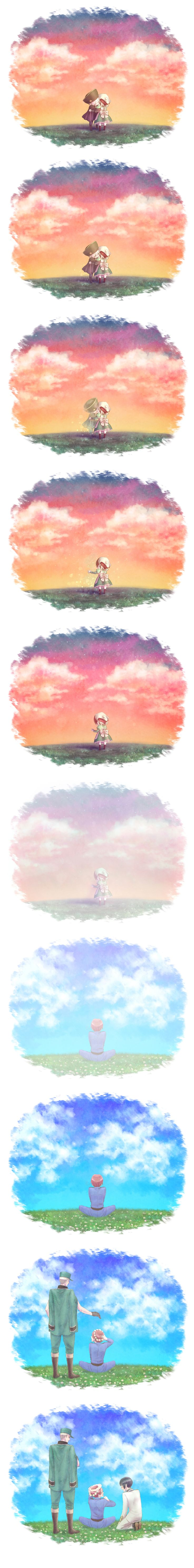 Aha~ I cried... ;w; This is so sweet-- he'll never be alone. :']