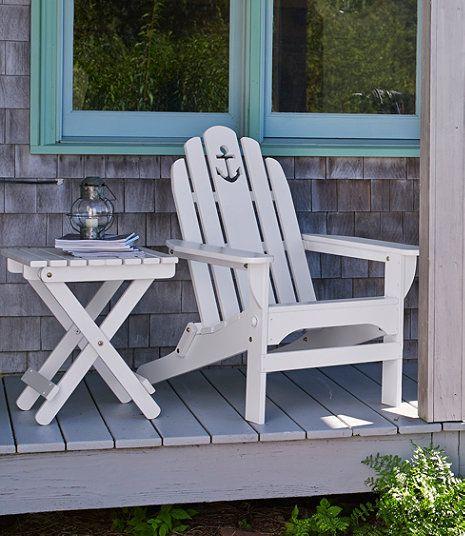 Wooden Adirondack Chair, Anchor Cutout By L.L. Bean