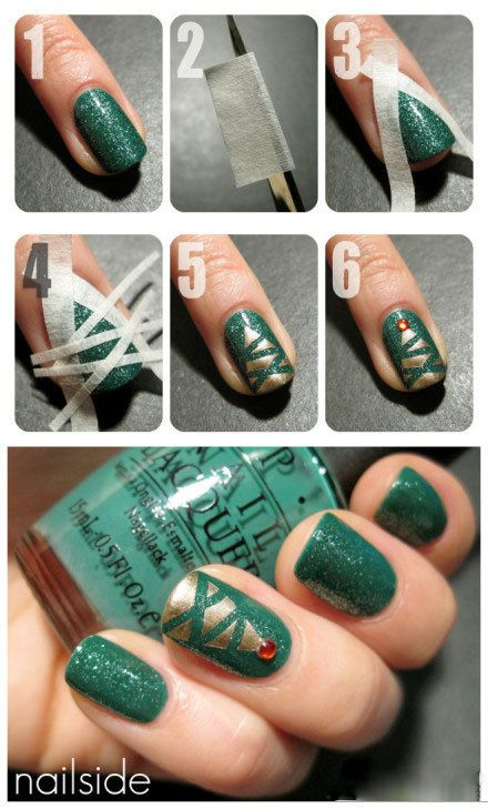 Decorate your nails for Christmas..... kinda makes me thinnk of Roller skate laces for @Laura Mc