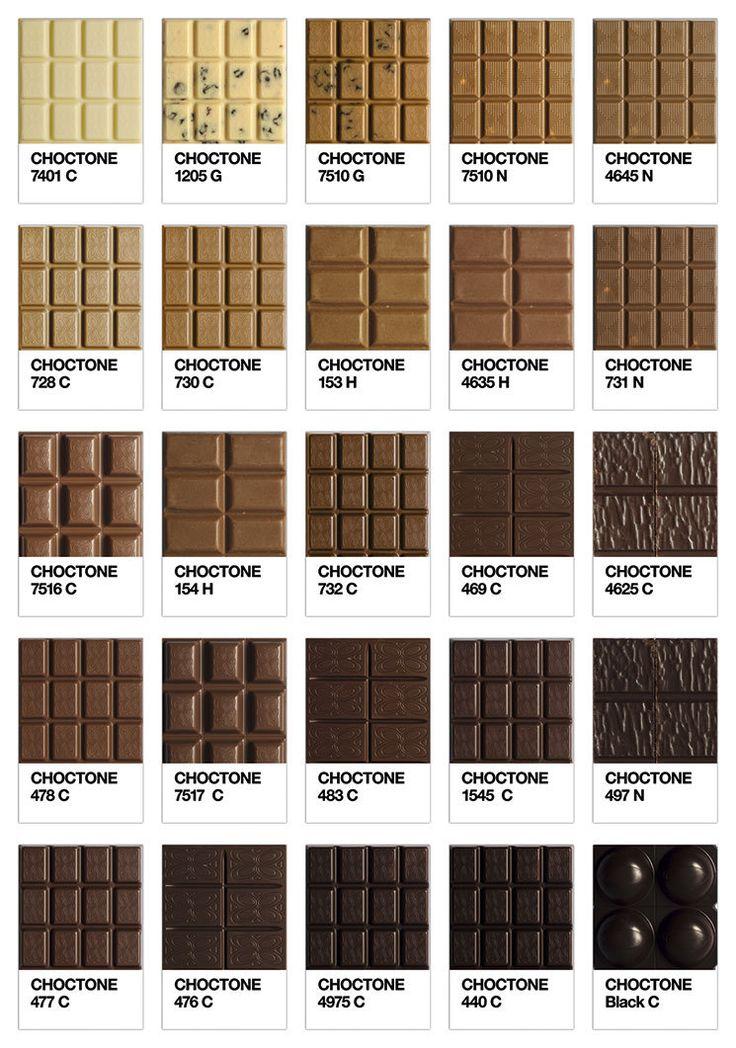 Choctone chocolate pantone