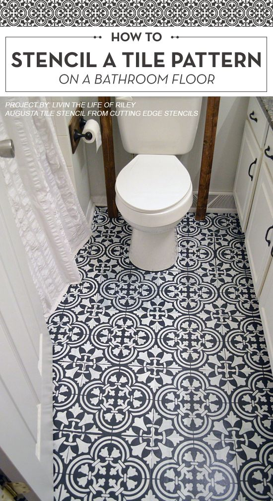 Cutting Edge Stencils Shares A DIY Tutorial Featuring A Stenciled Linoleum  Bathroom Floor Project. The Part 87