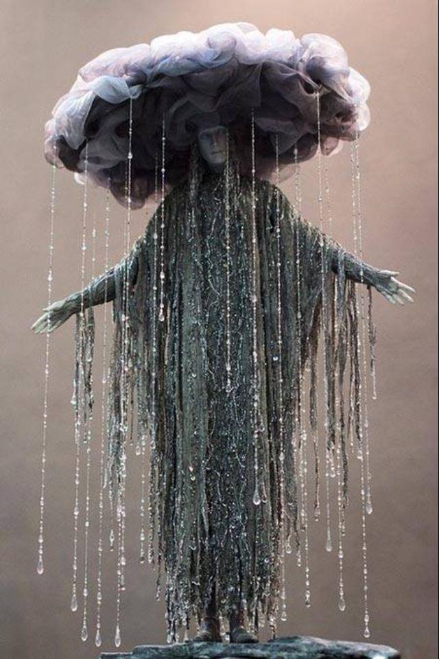 "Goddess of Depression Victot Nazarenko described as ""rain sculpture"" X"