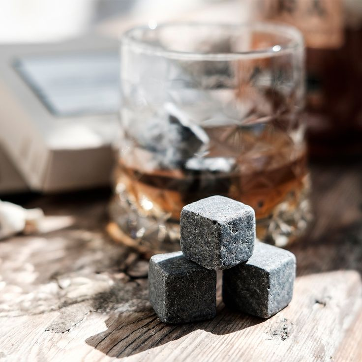 MEN'S SOCIETY WHISKEY STONES Set of 6 | Gift for Him | Gifts for Whiskey Lovers | Alcohol Gifts | Gifts for Men