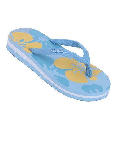 Look at this #zulilyfind! Blue Hawaiian Flip-Flop by Star Bay #zulilyfinds