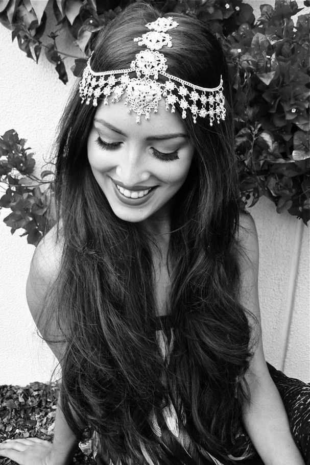 Accesorio bollywood para el pelo   -   Bollywood hair accessory   -   Bollywood cheveux accessoire