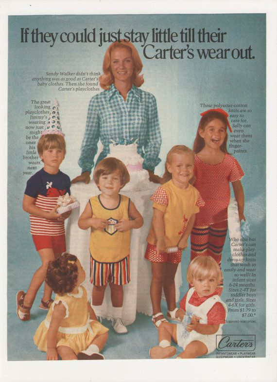 1973 Carters Childrens Clothing Advertisement by fromjanet on Etsy, $7.00