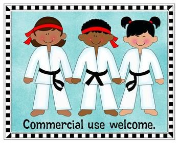 Clip Art - I'd rather be...in Karate Class!