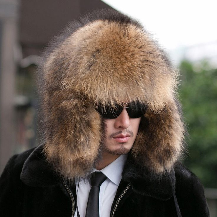 2015 New fashion genuine raccoon fur hat cold Russian winter EAR PROTECT warm fur hat headwear female / male, free shipping