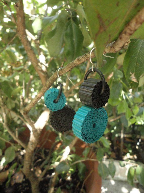 unusual jewelry-eco friendly earrings-light by HandmadeJewelryEgeo