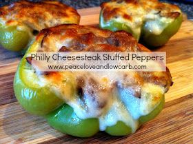 Philly Cheesesteak Stuffed Peppers - Low Carb, Gluten Free | Peace, Love, and Low Carb