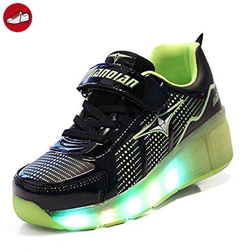 Rollen Led Schuhe Mit 7 Farbwechsel Leuchten Sneaker Kinderschuhe Licht Leuchtschuhe for Kinder Unisex Jungs Mädchen Damen Herren (*Partner-Link)
