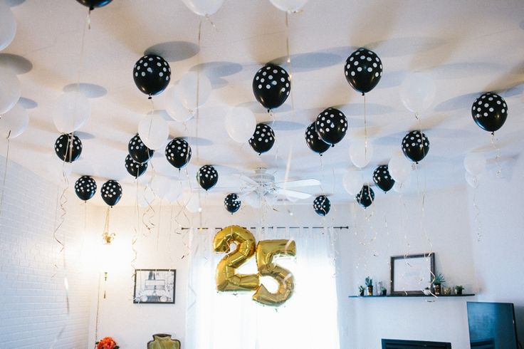 8 best images about black and white themed party on for 25th birthday decoration ideas