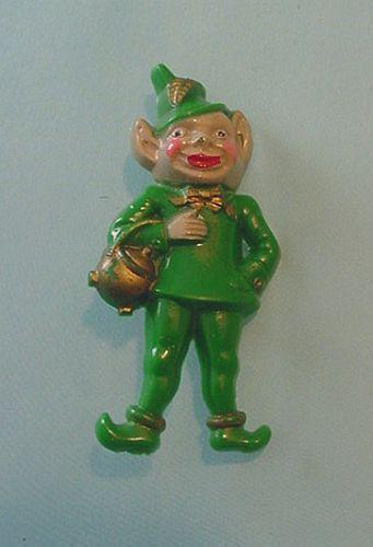"Vintage St. Patrick's Day Brooch or Pin - Leprechaun - 2 1/8""  picclick.com"