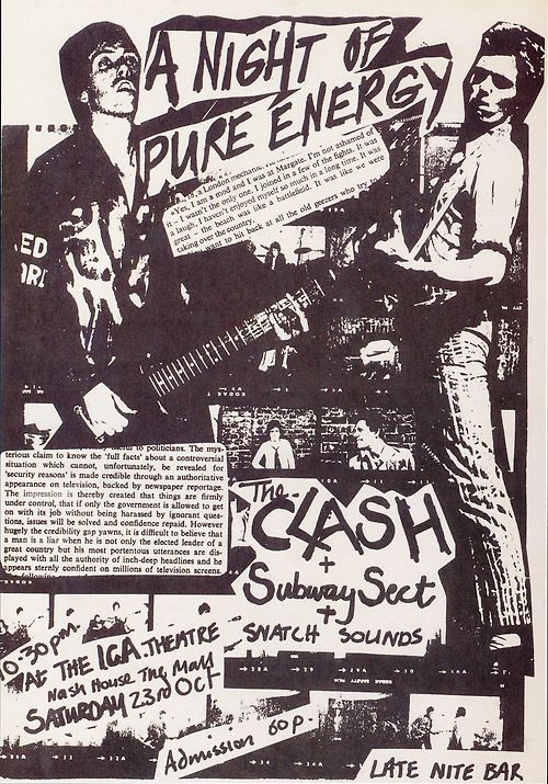 The Clash | 35 Old Punk Flyers That Prove Punk Used To Be So Cool