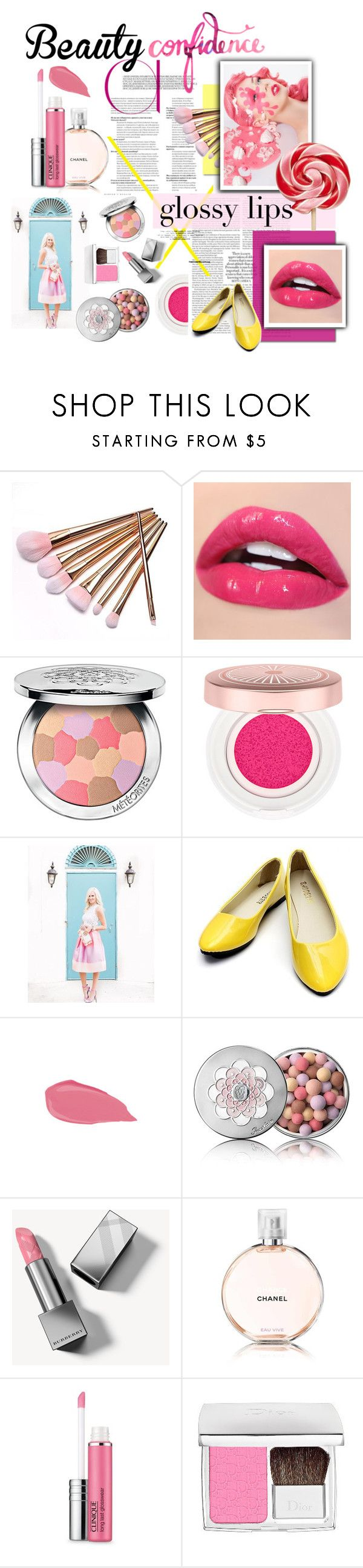 """""""The Sweetest Things (Lollipop)"""" by atikazahra on Polyvore featuring beauty, Guerlain, Burberry, Chanel, Clinique and Christian Dior"""