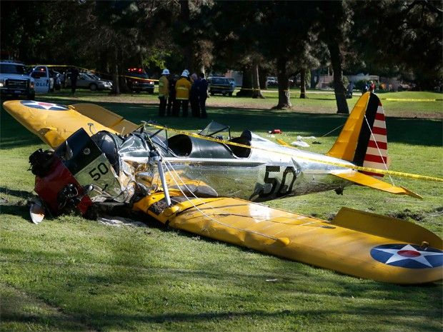 Cazuza: Harrison Ford sofre acidente de avião nos EUA.