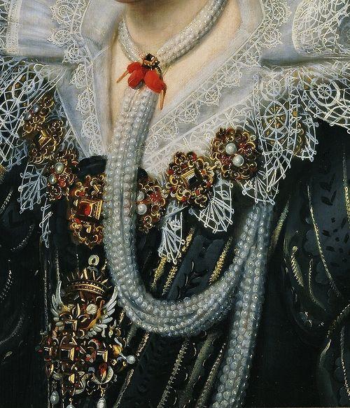 Portrait de femme (Détail) Michiel Jansz Van Mierevelt 1620