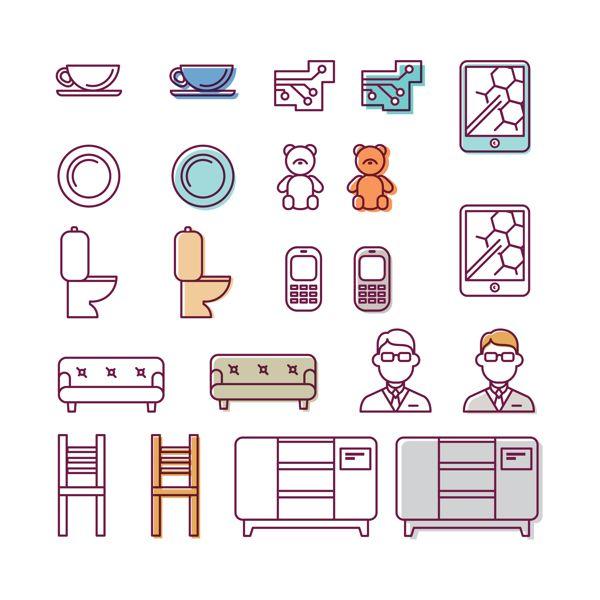 icons 02 by Olesya Tkach, via Behance