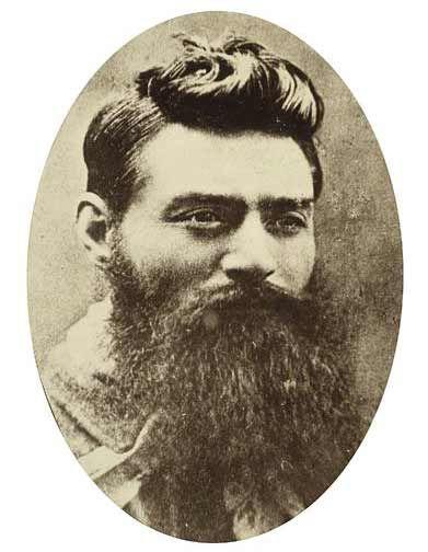A fuller beard on Ned Kelly.
