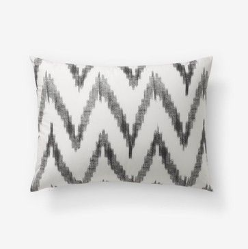 Organic Chevron Shams - contemporary - bed pillows and pillowcases - West Elm