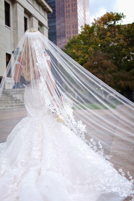 Dress Veil Wedding Couture Custom Dubai Michael Cinco Wed Bee