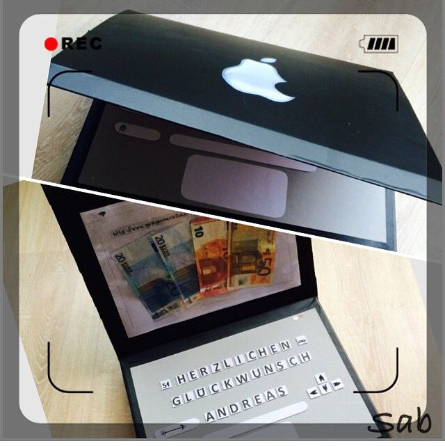 geldgeschenk laptop