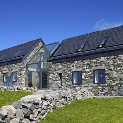 These for-rent cottages embody the traditional Irish countryside architecture with a touch of modern.