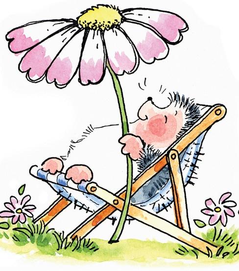 Hedgehog with Flower Umbrella