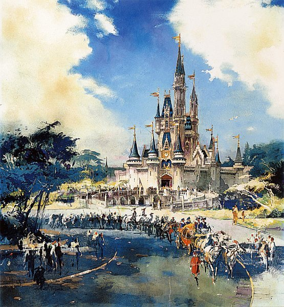 Herb Ryman masterpiece.  Original drawing of Cinderella Castle from 1967.: Disney Imagination, Disney Magic, Cinderella Castles, Disney World, Disney History, Disney Art, Disney Cinderella Concept Art, Disney Theme, Disney Nerd