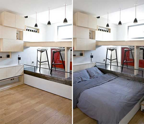 32 Really Clever Bed Solutions For Small Spaces Space Saving Beds For Small Spaces Space Saving Space Saving Beds