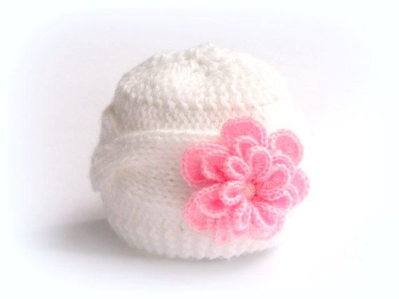 Hand knit baby hat Knitted cable hat Children knit by Mycapella, $15.25