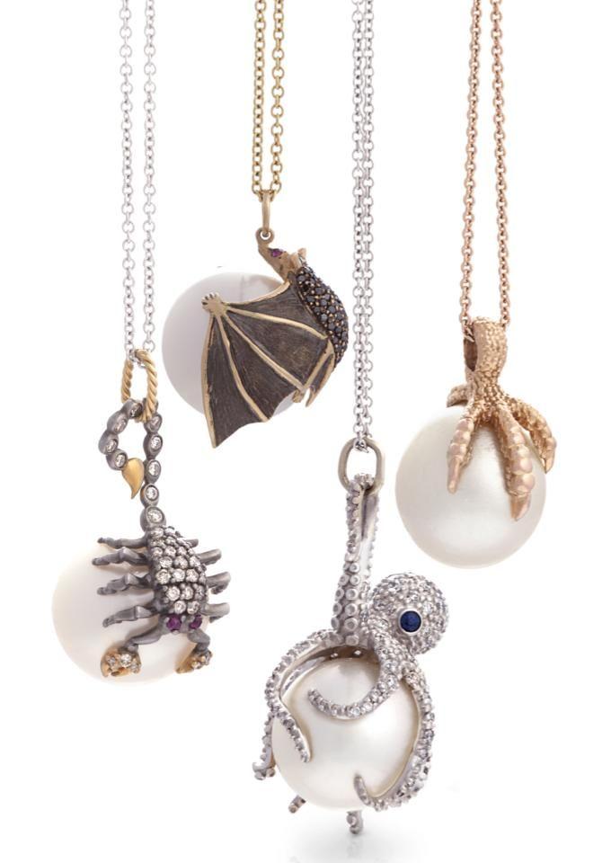 Animal Pearl pendants by Parulina