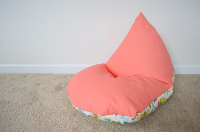 DIY Kids Bean Bag Chair. could make a little larger. Will recycle styrofoam. An inside bag would be great so the cover is washable.
