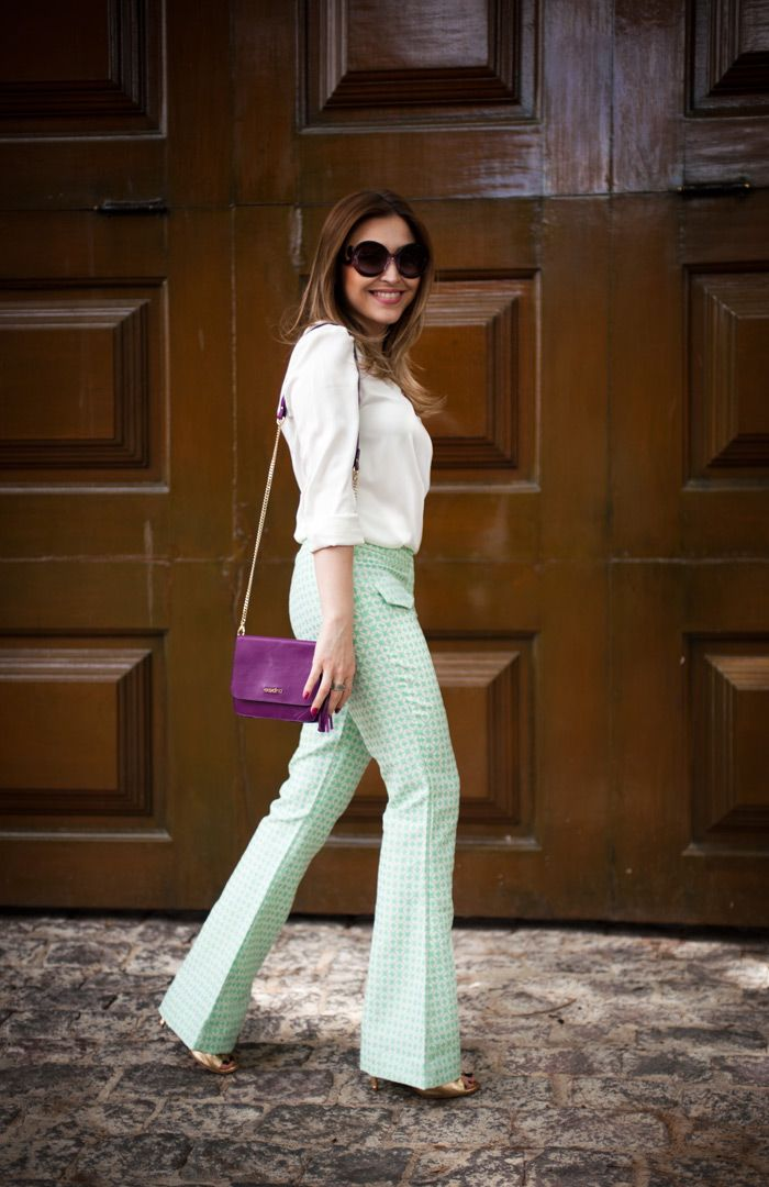 Mint green and purple!