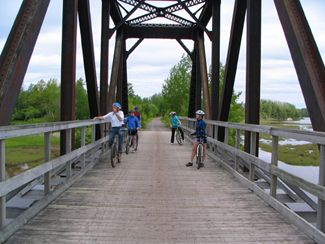 The Tatamagouche Area Trails Association manages this trail on provincial crown property. This trail is continuous with rail trail sections in Pictou County and Cumberland County.