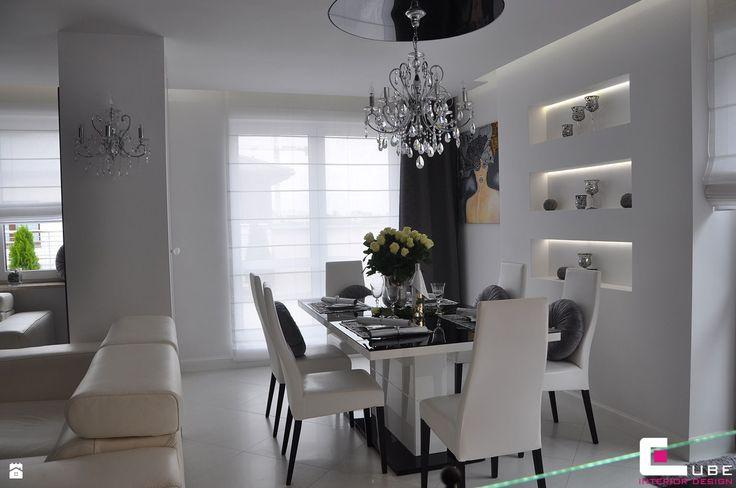 Jadalnia styl Glamour - zdjęcie od CUBE Interior Design - Jadalnia - Styl Glamour - CUBE Interior Design