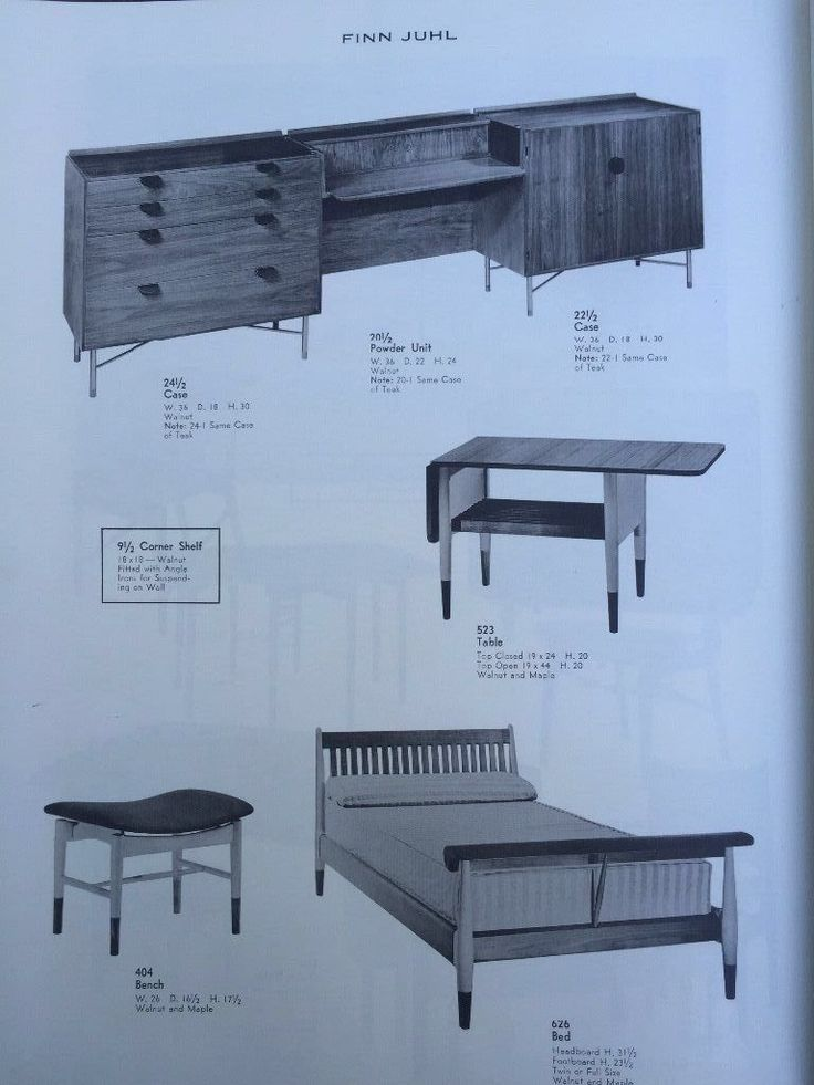 Vintage 1960s Baker Furniture Catalog Book Finn Juhl Mid