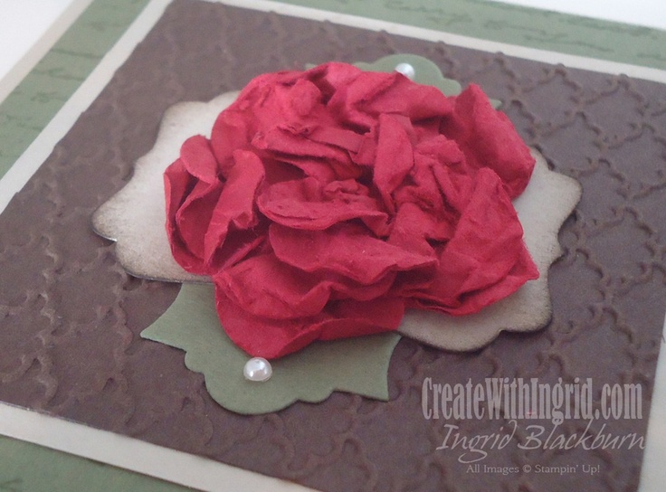 Smashed Flower Tutorial « Create with IngridCrafts Ideas, Cards Ideas, Flower Tutorials, Paper Flower, Cards Techniques, Paper Pleaser, Create, Paper Crafts, Smash Flower