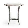 """Boracay 24"""" End Table With Marble Top in Platinum   Arhaus Furniture"""
